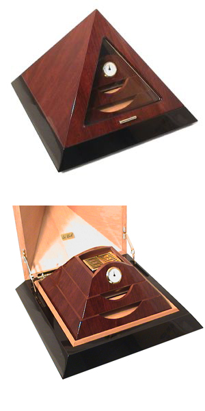 Le Veil Brown Pyramid humidor
